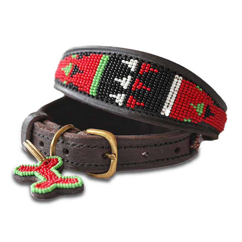 African Leather Dog Collars